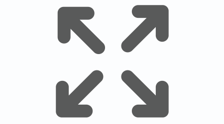 a symbol for enlarging the size of the object on a computer or something