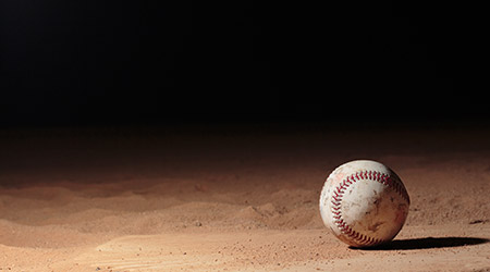 Moreno Valley Ca/ USA Sep 18, 2017 Photo of a baseball taken on top of home plate