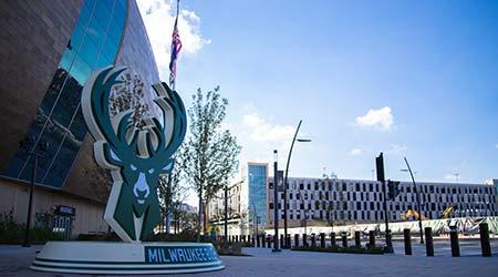Milwaukee, WI USA September 23 2018 Fiserv Forum Milwaukee Bucks Arena