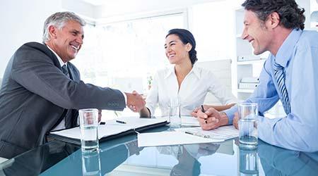Business agreement. Business handshake