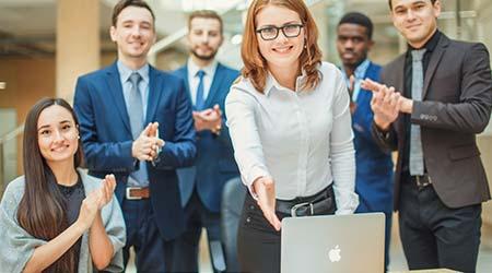 business etiquette, congratulation, merger and acquisition concepts