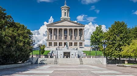 Tennessee state capital building in Nashville