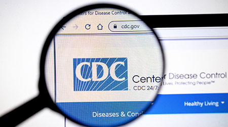 Los Angeles, California, USA - 26 March 2020: CDC website page. Cdc.gov logo on display screen, Illustrative Editorial.