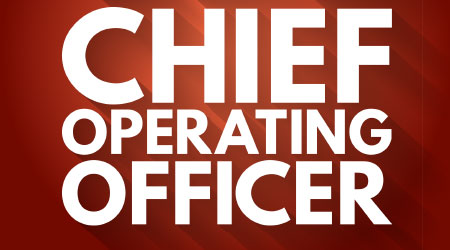 COO - Chief Operating Officer acronym, business concept background