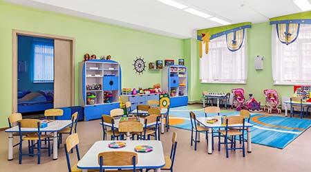 Kindergarten, games room and study.