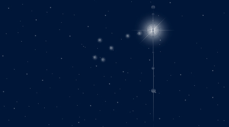 A picture of stars in the night's sky