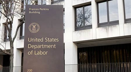 WASHINGTON, DC - NOVEMBER 12: United States Department of Labor in Washington, DC on November 12, 2015.