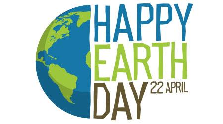 Earth day logo design.