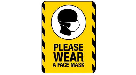 Warning to wear a mask