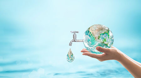 World water day, saving water quality campaign and environmental protection concept. Element of this image furnished by NASA
