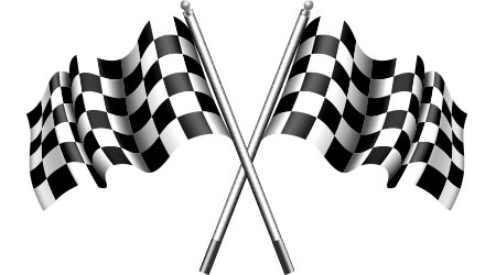 black and white checkered flag for racing