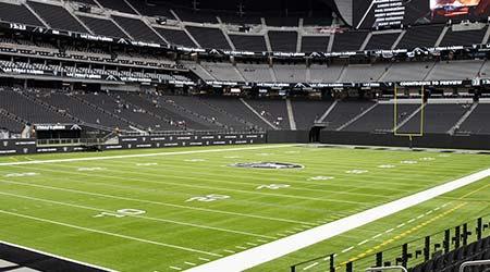 LAS VEGAS, NEVADA. May 26, 2021: Allegiant Stadium Shown On Las Vegas Raiders Season Ticket Holder Seat Visit Day