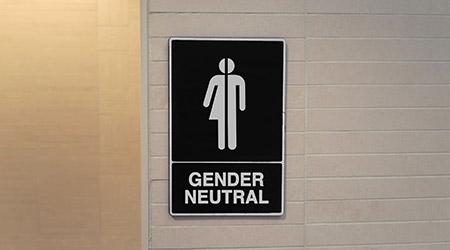 """Restroom sign that reads """"Gender Neutral"""""""