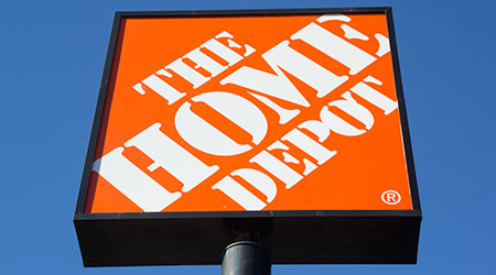 A Home Depot sign in Jacksonville. The Home Depot is the largest home improvement retailer in the United States, ahead of rival Lowe's.