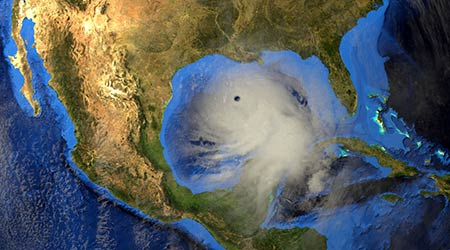 Hurricane Laura from Space. Extremely detailed and realistic high resolution 3d illustration. Elements of this image are furnished by NASA.