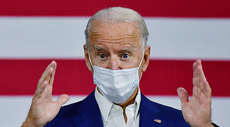 Democratic nominee Joe Biden made an abbreviated campaign visit to Grand Rapids, Michigan, on Friday, hours after he tested negative for the coronavirus in two separate tests. September 21,2020.