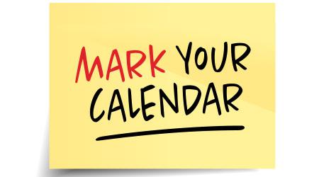 """mark your calendar"" written on post it note"