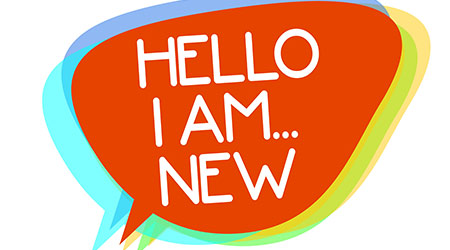 Conceptual hand writing showing Hello I Am... New.