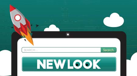 vector image of a new website launch