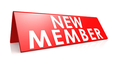 """New member"" in red label"