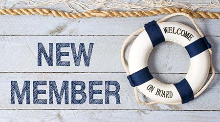 """a lifesaver that reads """"welcome on board"""""""