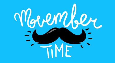 Movember time concept. Vector illustration