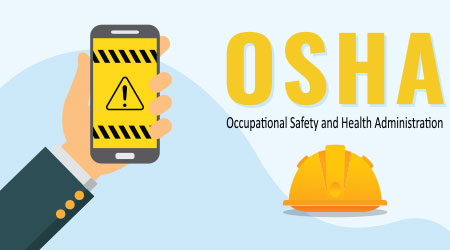 A vector image related to OSHA