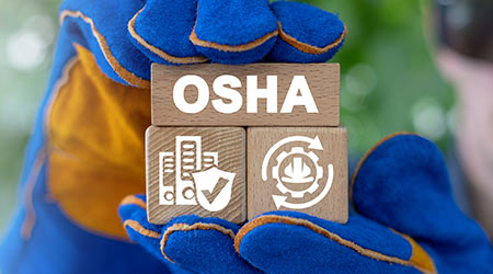 OSHA - Occupational Safety and Health Administration Industry Construction Engineering Medical Concept.