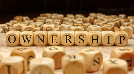 Ownership word written in wood blocks