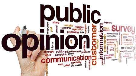 public opinion word cloud concept