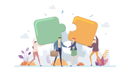 Business Acquisition Partnership Vector Illustration Concept Showing Two Business Partner Handshake As A Deal Symbol, Suitable for landing page, ui, web, app intro card, editorial, flyer, and banner.  D