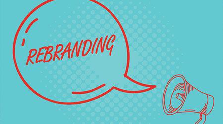 Writing note showing Rebranding. Business photo showcasing Change corporate image of company organization Marketing strategy