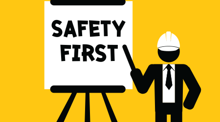 safety first presentation for training or teaching