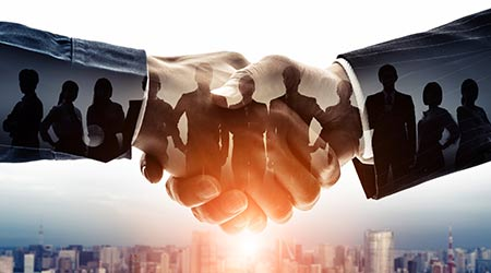 Partnership of business concept. Group of businessperson. Customer support. Teamwork.