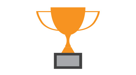 Trophy cup vector icon winner symbol