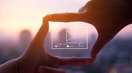 live video marketing concept