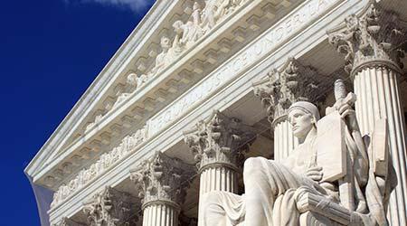 U.S. Supreme Court building in Washington