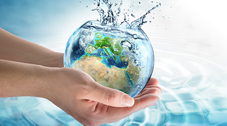 water conservation in Europe - elements of this image furnished by NASA
