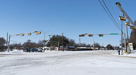 Dallas, Texas USA - February 2021: Winter storm Uri