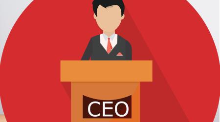 president speech flat icon - public speaker character vector Illustration. CEO