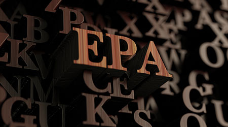 Epa - Wooden 3D rendered letters/message. Can be used for an online banner ad or a print postcard.  C