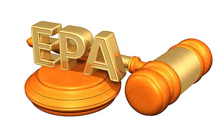 EPA Law Legal Gavel Concept 3D Illustration