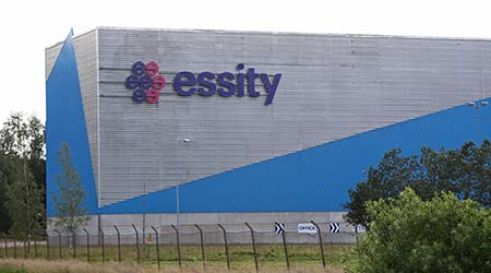 LILLA EDET, SWEDEN- 26 JUNE 2019: Essity in Lilla Edet. Essity Company is a global hygiene and health company.