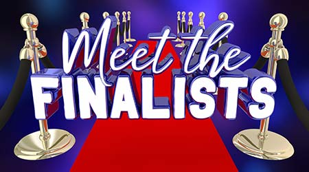 Meet the Finalists Award Nominees Winners Red Carpet 3d Illustration