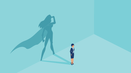 Vector image of a female superhero