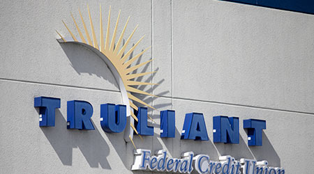 Wytheville, VA/USA-March 7, 2019: Truliant Federal Credit Union Sign