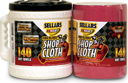 Red Fiber Blended Shop Cloth: Sellars Wipers & Sorbents