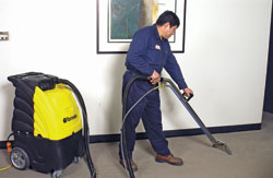 Marathon 2-100 and 2-100H box-style portable carpet extractors: Tornado Industries