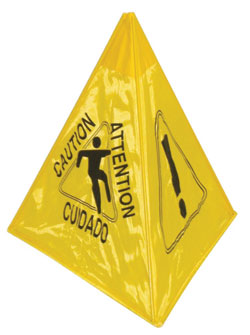 Collapsible Tri-Cone Caution Sign: Continental Commercial Products