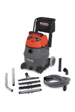 RIDGID® industrial two-stage wet/dry vacuums: Ridge Tool Co.